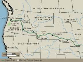 The Oregon Trail Map by Oregon Trail Merry Farmer