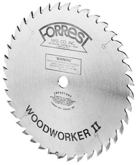 forrest woodworker 2 power tools forrest woodworker ii 10 inch 40 tooth saw