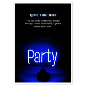 Neon Invitation Template by Neon Blue Invitations Cards On Pingg