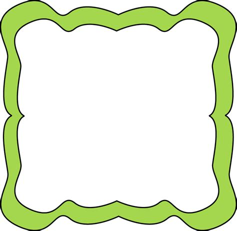 clipart frame green curvy frame free clip frames
