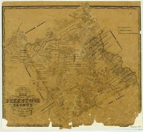 texas glo maps freestone county texas maps