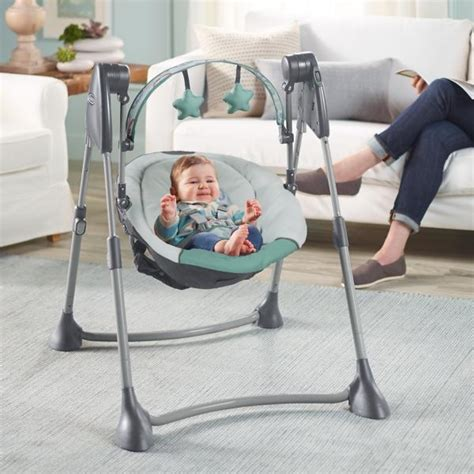 baby swing 6 months plus graco swing by me portable 2 n 1 swing cleo toddler
