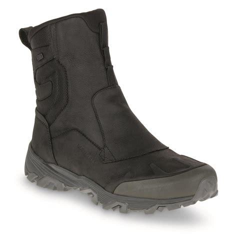merrell mens winter boots merrell s coldpack zip polar waterproof 8 quot winter