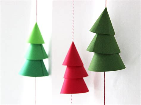diy paper christmas tree garland made remade
