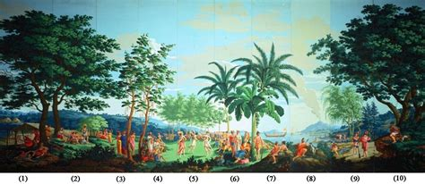 printed wallpaper file sauvages de la mer pacifique panels 1 10 of