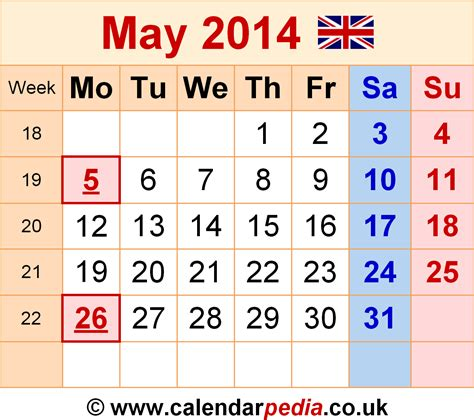 may 2014 calendar template calendar may 2014 uk bank holidays excel pdf word templates