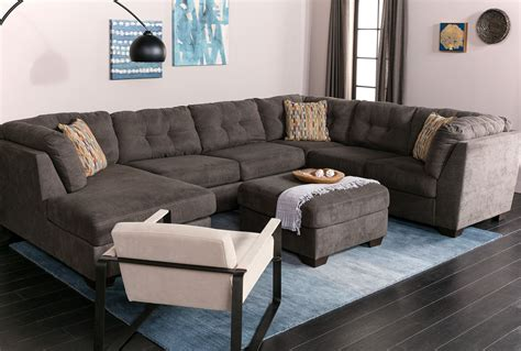 Delta City Steel 3 Piece Sectional W/Laf Chaise   Living Spaces