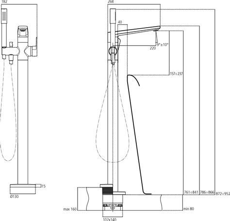 gruppo doccia ideal standard gruppo miscelatori appoggio vasca tonic ii ideal standard
