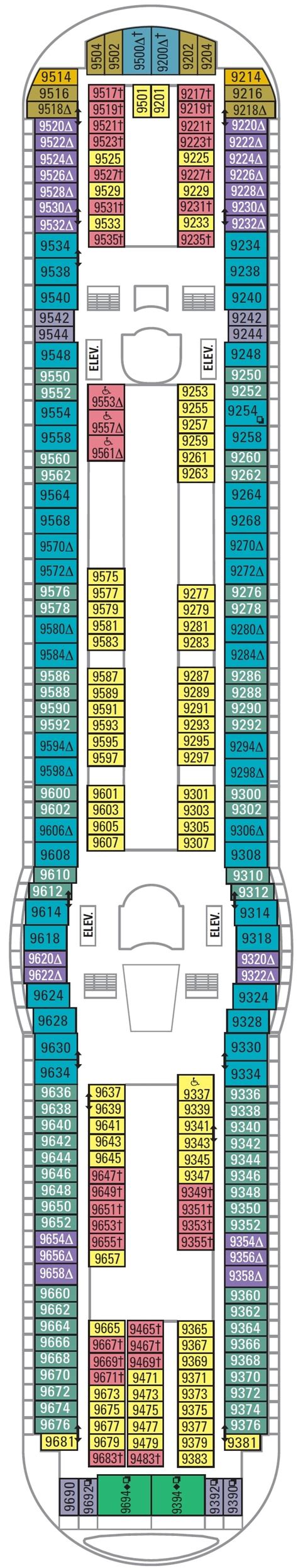 adventure of the seas floor plan adventure of the seas deck plans cruisekings