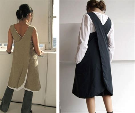 japanese apron pattern pdf la maison boheme cross back apron dress sew stitch