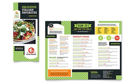 menus word templates publisher templates