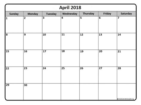 printable monthly calendar without weekends april 2018 calendar 51 calendar templates of 2018 calendars