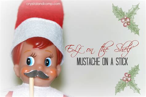 on the shelf mustache on a stick free printable