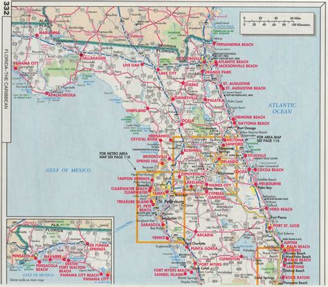 road map of florida florida map with state roads