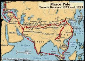 Marco Polo Route Map by Map Of Marco Polo Travels 1271 1295