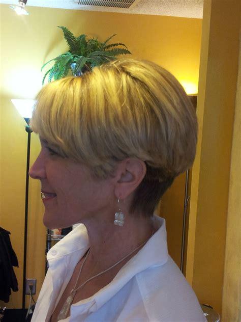 wedge pixie cut bonnie wedge haircut with multicolor weave pazazz salon