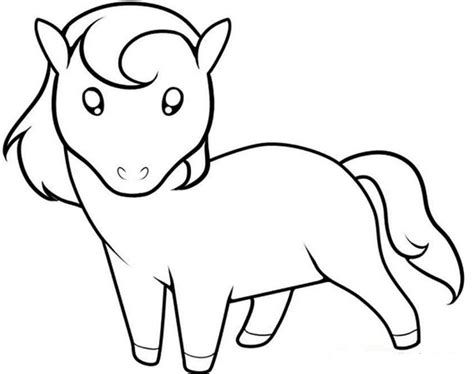 simple horse coloring pages www pixshark com images