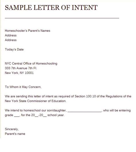 Letter Of Intent To Homeschool Sle Of Letter Of Intent To Homeschool Home Schooling Homeschool School And
