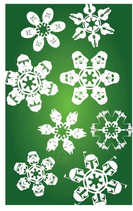 Snowflake Paper Crafts - 12 beautiful snowflake craft ideas
