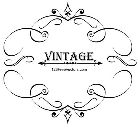 cornici vintage vintage calligraphy frame vector graphics 123freevectors