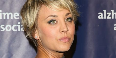 kaley cuoco dyes her hair cotton candy pink huffpost