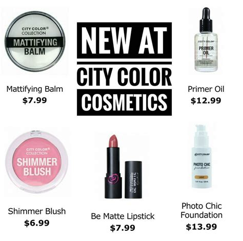 City Color Mattifying Balm Primer new city color cosmetics launches the budget