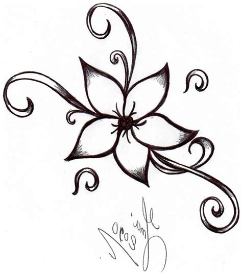A Drawing Of A Flower by Flower Drawing Easy Simple Flower Drawing How To Draw