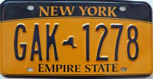 vintage new york license plates and