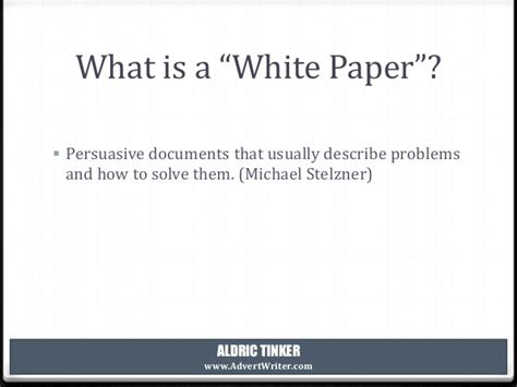 how to write a white paper how to write a white paper michael stelzner