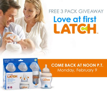 Free Giveaways For Baby Stuff - free 3 pack munchkin latch baby bottles 3pm est