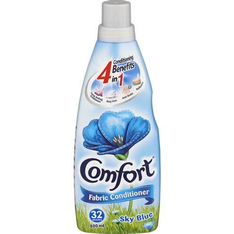 fabric softener comfort comfort fabric conditioner sky blue 800ml woolworths
