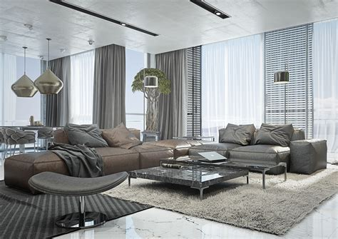 Masculine Sofas 4 masculine apartments with super comfy sofas and sleek