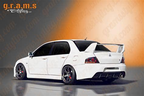 mitsubishi evo jdm mitsubishi lancer evolution 7 8 9 rear bumper jdm style