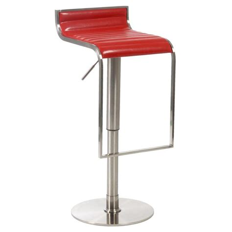 Bar Or Counter Stools | forest adjustable bar counter stool red satin nickel bar