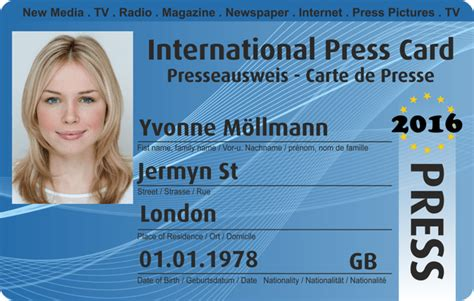 international press card pass for press press pass i i