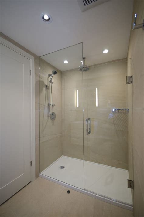 Large Glass Shower Large Shower Enclosure With Custom Glass Bathroom