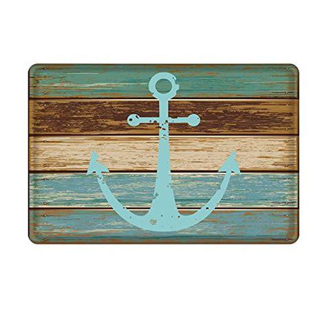 Nautical Bathroom Rugs Uphome Vintage Retro Nautical Anchor Floor Mat Rug Turquoise And Brown Beachfront Decor