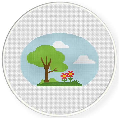 nature cross stitch pattern charts club members only lovely nature cross stitch