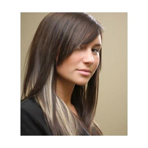 Edgy Highlights For Brown Hair | edgy peek a boo blonde highlights pictures of dark hair