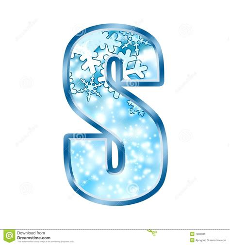 up letter with snow winter alphabet letter s stock illustration image of snow