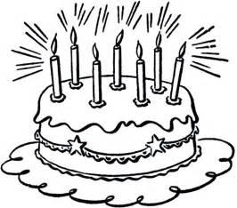 birthday cake clip art black and white clipartsgram com