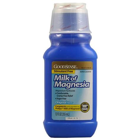 Is Milk Of Magnesia A Laxative Or Stool Softener by Goodsense Milk Of Magnesia Saline Laxative Original Flavor