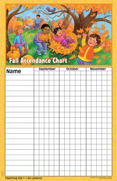 Preschool Attendance Chart Printable