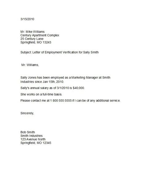 employee verification letter examples  word examples