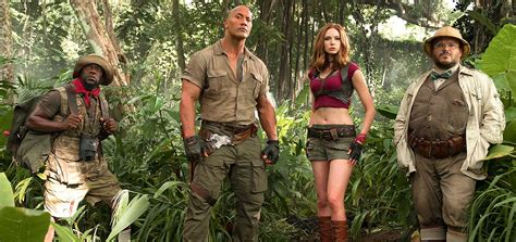 what is on at the movies jumanji welcome to the jungle by dwayne johnson jumanji 2 2017 dwayne johnson movie trailer release date cast and photos
