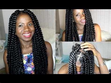how to do bigbraids how to do big box braids proctective style youtube