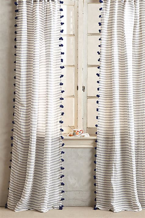 how to make tassels for curtains pom tassel curtain anthropologie