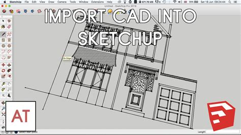 sketchup layout dwg import import cad dwg dxf into sketchup youtube