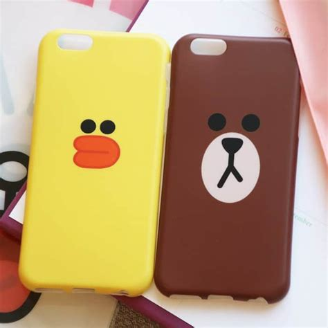 Softcase Kuat Line Brown Soft Cover Iphone 6 6s line character soft iphone macbook and apple