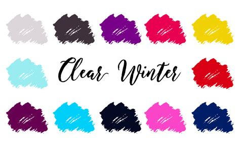 clear winter color palette clear winter palette bright winter clear cool